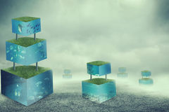 Aquarium cubes Royalty Free Stock Image