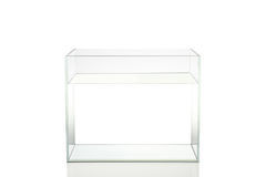 Aquarium d'isolement avec de l'eau sur le fond blanc Image stock