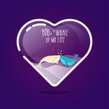 Aquarium de forme de coeur pour la célébration de jour du ` s de Valentine Photo libre de droits