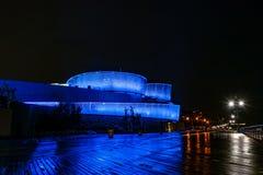 Aquarium de New York par nuit image libre de droits