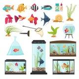 Aquarium Essential Elements Collection Stock Images