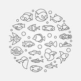 Aquarium fish illustration Stock Photos