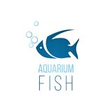 Aquarium fish logo template. Over white background Royalty Free Stock Image