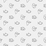Aquarium fish pattern Royalty Free Stock Images