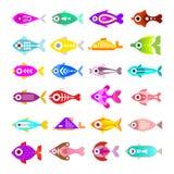 Aquarium Fish Vector Icons Stock Photo