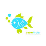 Aquarium fish vector logo Stock Photo