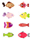 Aquarium fishes - vector icons Royalty Free Stock Photos