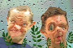 Aquarium fisheye mening Stock Afbeeldingen