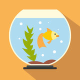 Aquarium flat icon. For web and mobile devices Royalty Free Stock Images
