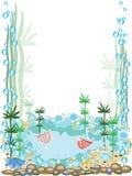 Aquarium frame Royalty Free Stock Photo