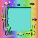 Aquarium frame Stock Image