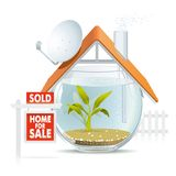 Aquarium home sold Stock Image