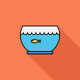 Aquarium icon. Flat vector related icon with long shadow for web and mobile applications. It can be used as - logo, pictogram, icon, infographic element Royalty Free Stock Images