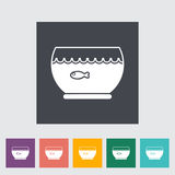 Aquarium icon. Flat vector related icon for web and mobile applications. It can be used as - logo, pictogram, icon, infographic element. Vector Illustration Royalty Free Stock Photography