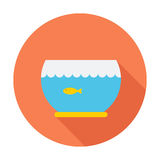 Aquarium icon. Flat vector related icon for web and mobile applications. It can be used as - logo, pictogram, icon, infographic element. Vector Illustration Stock Photography