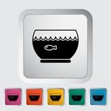 Aquarium icon. Flat vector related icon for web and mobile applications. It can be used as - logo, pictogram, icon, infographic element. Vector Illustration Royalty Free Stock Photo