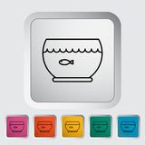 Aquarium icon. Line flat vector related icon for web and mobile applications. It can be used as - logo, pictogram, icon, infographic element. Vector Stock Photo