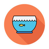 Aquarium icon. Line flat vector related icon for web and mobile applications. It can be used as - logo, pictogram, icon, infographic element. Vector Stock Images