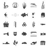 Aquarium Icons Stock Images