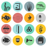Aquarium Icons Royalty Free Stock Image