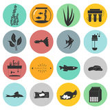 Aquarium Icons Royalty Free Stock Images