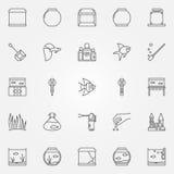 Aquarium icons set Stock Image
