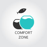 Aquarium and jumping fish, comfort zone concept Stock Image