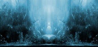 Aquarium landscape stock image