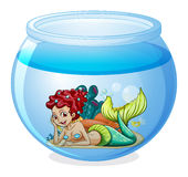 An aquarium with a mermaid Royalty Free Stock Photography