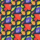 Aquarium ocean fish underwater bowl tropical aquatic animals water nature pet characters seamless pattern background. Aquarium ocean fish underwater bowl Royalty Free Stock Image