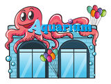 Aquarium and octopus Stock Photo