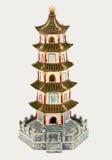 Aquarium Ornament(Pagoda). Pagoda figurine on white background Stock Images