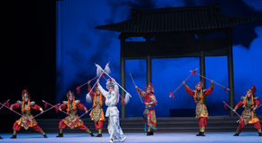 """The aquarium and the protoss war-The sixth act water overflows golden hill-Kunqu Opera""""Madame White Snake"""" Royalty Free Stock Images"""