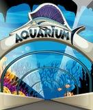 Aquarium scene with lives underwater Stock Photo