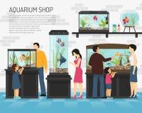Aquarium Shop Illustration Royalty Free Stock Images