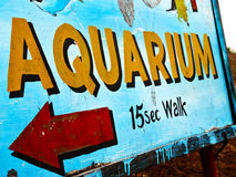 Aquarium sign Stock Photos