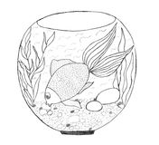 Aquarium sketch Royalty Free Stock Photography