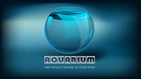 Aquarium and slogan Stock Photos
