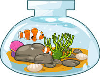 Aquarium vector. Illustration of cartooon aquarium on white background vector file Stock Image