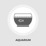 Aquarium-Vektor-flache Ikone Stockfotos