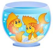 Aquariumthemabild 3 Lizenzfreie Stockfotografie