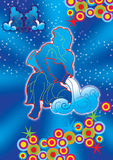 Aquarius illustrazione di stock