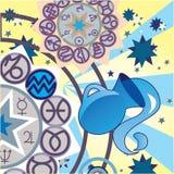Aquarius - air zodiac sign Royalty Free Stock Photo