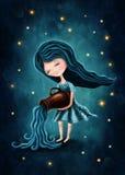 Aquarius astrological sign girl Stock Images