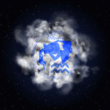 Aquarius Astrology constellation of the zodiac smoke Stock Images