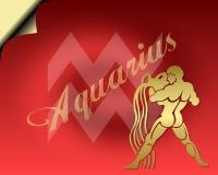 Aquarius Card. Aquarius zodiac card- zodiac theme royalty free illustration