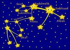 Aquarius constellation Royalty Free Stock Photos