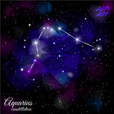 Aquarius Constellation With Triangular Background. Royalty Free Stock Photography