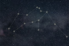Aquarius Constellation. Zodiac Sign Aquarius constellation lines royalty free illustration