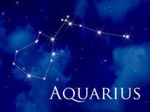 Aquarius della costellazione Fotografia Stock Libera da Diritti